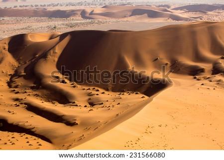 View from Big Daddy, Sossusvlei, Namib-Naukluft National Park, Namibia - stock photo