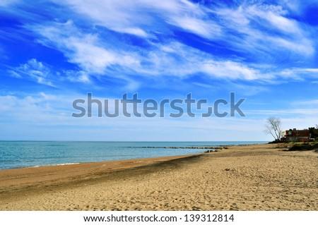 View from Black Sea coast in Ordu, Turkey - stock photo
