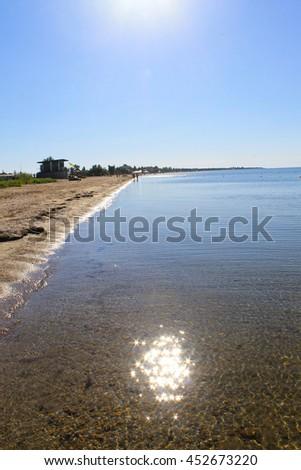 View from Black Sea coast in Ukraine - stock photo