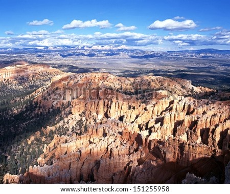 View from Bryce Point looking east, Bryce Canyon National Park, Utah, USA. - stock photo