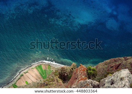 View from Cabo Girao cliff. Madeira island, Portugal.