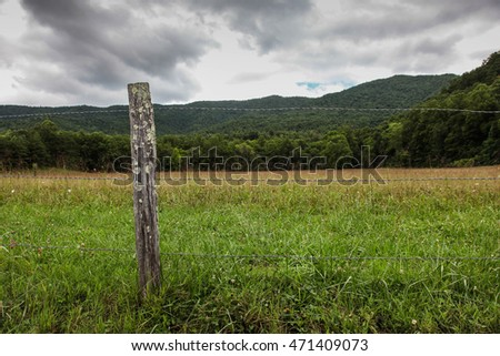 View from Cades Cove in Smoky Mountains National Park, Tennessee