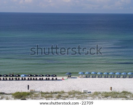 view from condominium balcony at San Destin Golf and Beach resort.