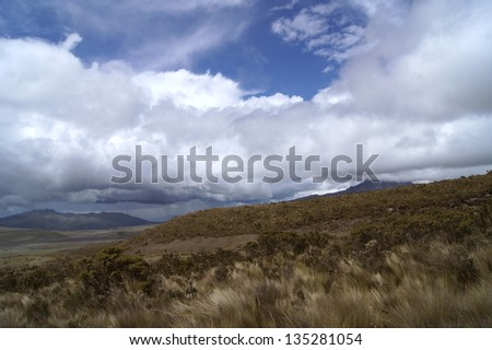 View from Cotopaxi - stock photo