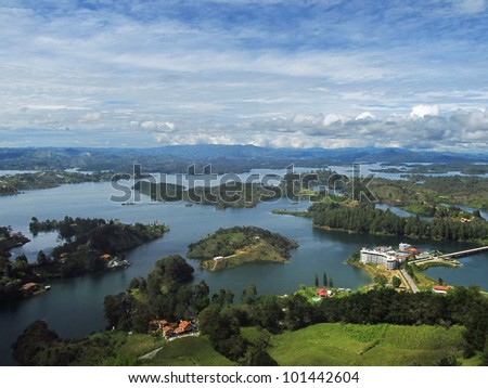 View from El Pe�±on near Guatape, Antioqu�­a, Colombia