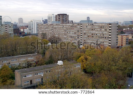 View from Elephant and Castle aria, London - stock photo