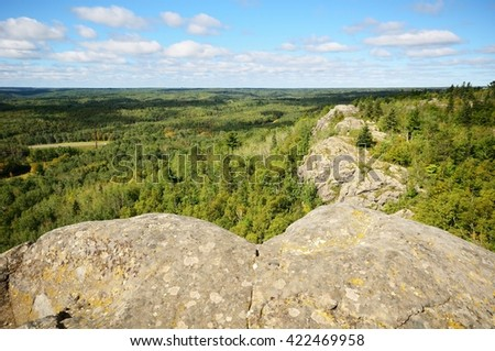 View from Ely's Peak Near Duluth on the Last Day of Summer - stock photo