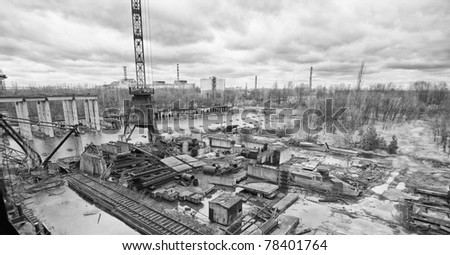 view from fifth power generating unit - stock photo