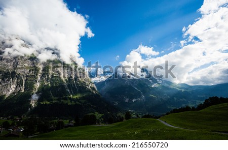 View from Grindelwald First - stock photo
