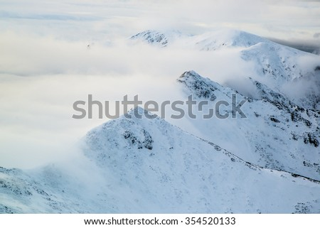 View from Kasprowy Wierch above the clouds