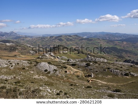 View from La Sierra de Torcal, Andalusia