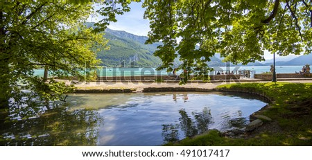 View from lake Annecy, France, region Houte Savoie