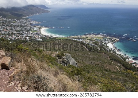View from Lion Peak, South Africa, Cape town, Hiking