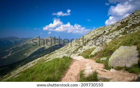 View from Low tatras mountains, Slovakia - stock photo