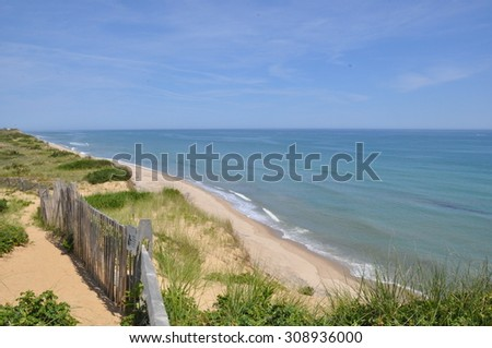 View from Marconi Station on Cape Cod in Massachusetts - stock photo