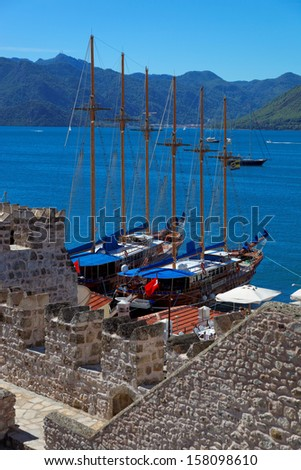 View from Marmaris Castle in Marmaris, Turkey, Europe - stock photo
