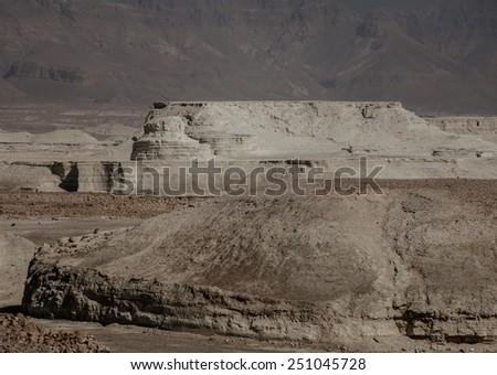 View from Masada fortress, Israel - stock photo
