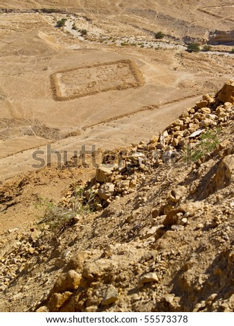 View from Masada, photo was taken in Israel - stock photo