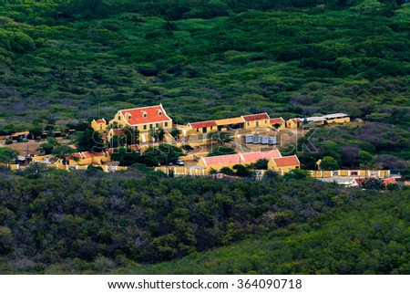View from Mount Christoffel on Curacao - stock photo