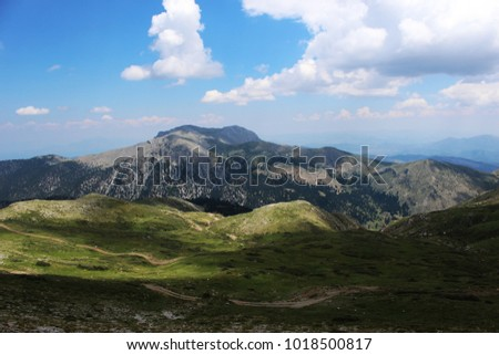 View from mount Kyllini on the Peloponnese in Greece