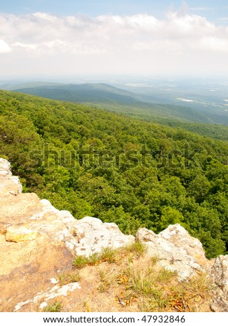 view  from Mount Magazine - stock photo