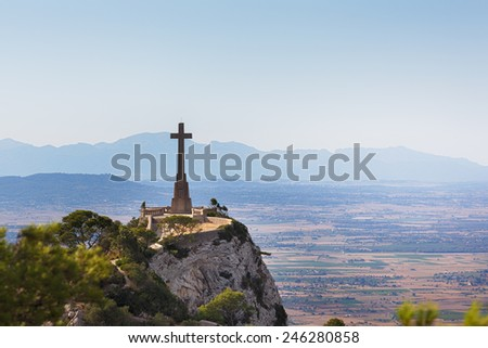 View from mount Sant Salvador, Mallorca, Balearic Islands, Spain