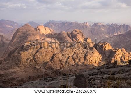 View from Mount Sinai. Egypt. - stock photo