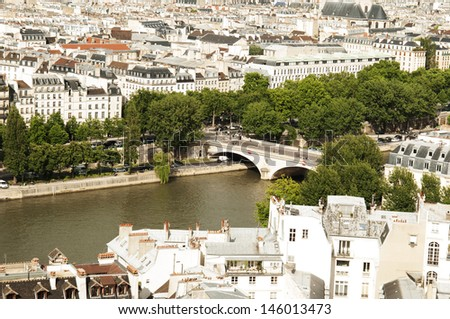 View from Notre- Drame Cathedral, Paris