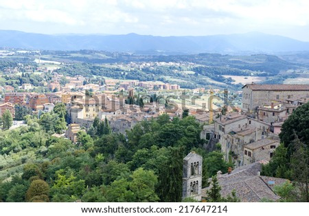 View from of the medieval hill town of Orvieto, Umbria, Italy