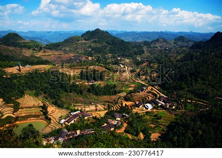 View from Quan Ba Sky gate, Ha Giang province, Vietnam