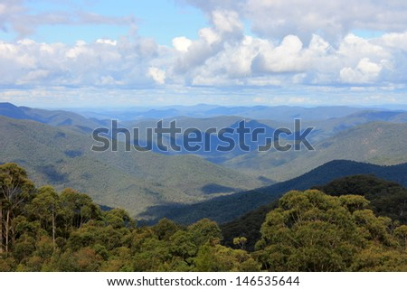 View from Raspberry lookout, Gibraltar National Park, New South Wales. - stock photo