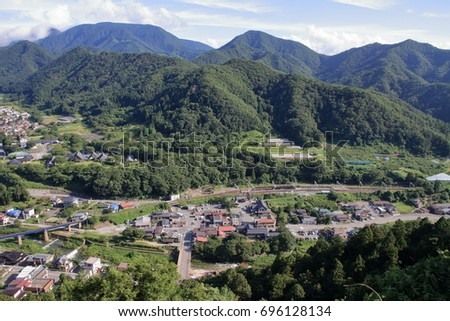 view from Risshaku ji (Yamadera) in Yamagata, Japan