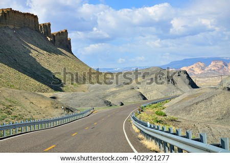 View from Routes 24, near Hanksville, Utah, USA
