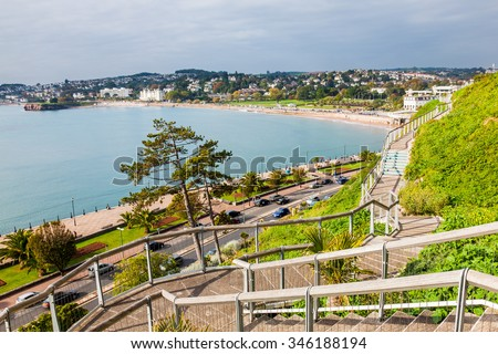 View from Royal Terrace Gardens Torquay Devon England UK Europe