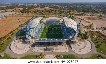 View from sky of Algarve stadium. Portugal. Aerial