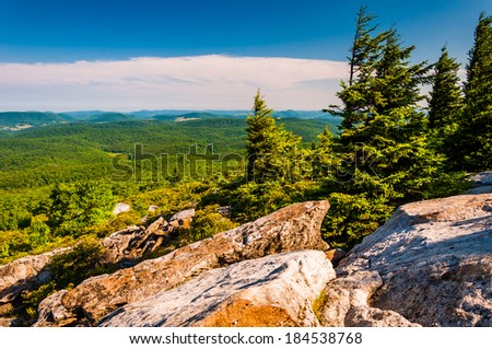 View from Spruce Knob, West Virginia. - stock photo