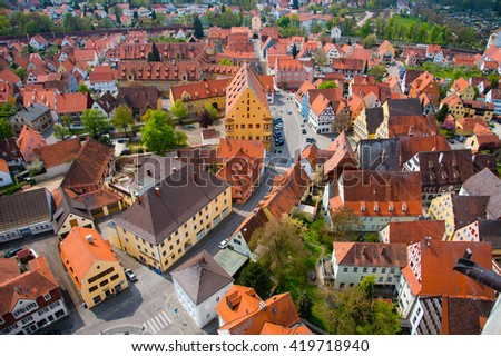 View from St. Georgs Church - Nordlingen, Germany.