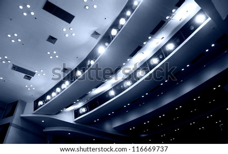 View from stage on ceiling