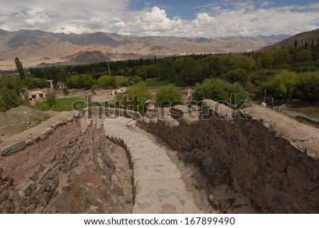 View from Stok Palace - stock photo