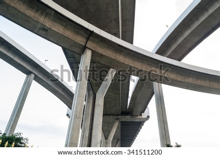 View from the bottom of the elevated sky. - stock photo