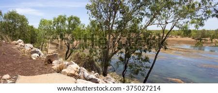 View from the bridge over Cockatoo Creek  - stock photo