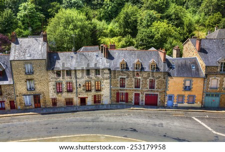 View from the Castle of Fougeres, Brittany - stock photo