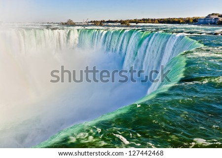 View from the Edge of Niagara Falls - stock photo