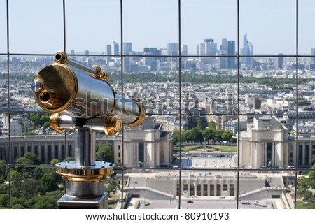 View from the Eiffel tower - stock photo