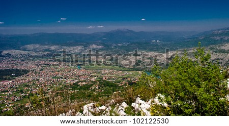 View from the hill over Podgorica
