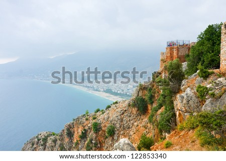 View from the Inner Castle (Ic Kale), Alanya, Turkey - stock photo