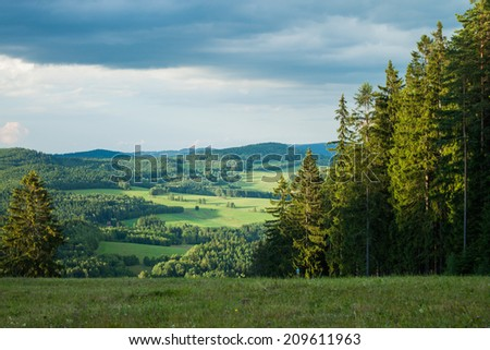 View from the mountains in Lipno - Czech Republic