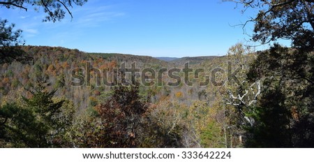 View from the Point in Cane Creek Canyon Nature Preserve Alabama - stock photo