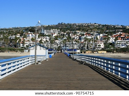 View from the San Clemente Pier, Orange County, CA - stock photo