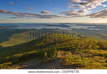 View from the Sikhote-Alin mountains to the coast.